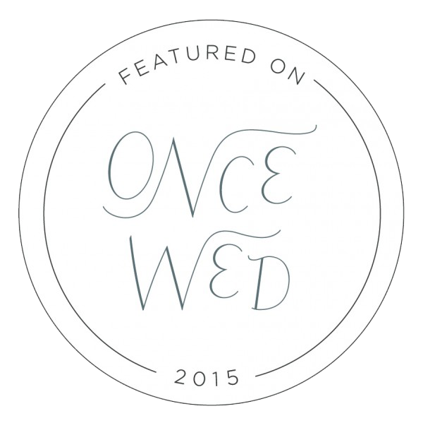 As featured on Once Wed 2015